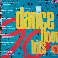 Disques de vinyle: THE ORIGINAL DANCEFLOOR,HITS 1990 VOL 1(VARIOS) EDICION ALEMANA DEL 89. Lote 32064957