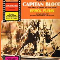Discos de vinilo: CAPITAN BLOOD Y OTRAS CELEBRES PELÍCULAS DE ERROL FLYNN - LP 1981 - . Lote 32066083
