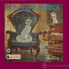 Discos de vinilo: LOS ARISTOGATOS EP CUANTODISCO BRUGUERA HISPAVOX NUMERO 16 HL 084-15 WALT DISNEY. Lote 32105359