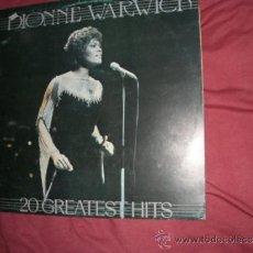 Discos de vinilo: DIONNE WARWICK LP 20 GREATEST HITS 1983 MOVIPLAY SPA VER FOTO. Lote 32106009