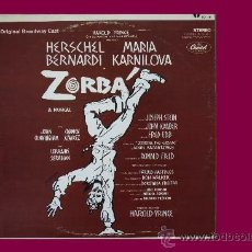 Discos de vinilo: ZORBA EL MUSICAL LP ORIGINAL BROADWAY CAST CAPITOL USA VER FOTO ADICIONAL. Lote 32107045