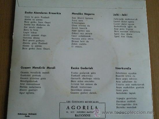 Discos de vinilo: GUDARI GAZTE BAT GERNIKAN EP AGORILA EDITA - Foto 2 - 85353652