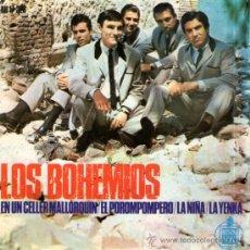 """Discos de vinilo: LOS BOHEMIOS - EP SINGLE VINILO 7"""" - EDITADO EN ESPAÑA - EN UN CELLER MALLORQUÍN + 3 - HISPAVOX 1965. Lote 32112887"""