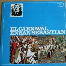 Discos de vinilo: EL CARNAVAL DE SAN SEBASTIÁN (SARRIEGUI), POLKA - RETRETA - AU DEK AU (COMPARSA DE NODRIZAS) 1959. Lote 32115884