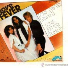 Discos de vinilo: UXV LOVE FEVER SINGLE PROMOCIONAL 1978 DISCOTECA MUSICA DISCO GRUPO DANES GERMAN MACHINE HOJA PRENSA. Lote 32255081