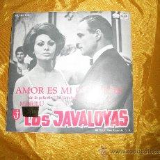 Discos de vinilo: LOS JAVALOYAS. AMOR ES MI CANCION / MARILU. LA VOZ DE SU AMO 1967. IMPECABLE. Lote 32131409