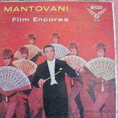 Discos de vinilo: LP - MANTOVANI - FILM ENCORE - ORIGINAL ESPAÑOL, DECCA 1958. Lote 32134463
