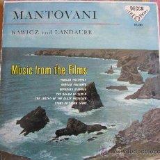 Discos de vinilo: LP - MANTOVANI CON RAWICZ Y LANDAUER - MUSIC FROM THE FILMS - ORIGINAL ESPAÑOL, DECCA 1958. Lote 32134486