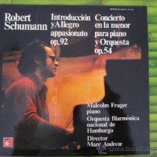 Discos de vinilo: ROBERT SCHUMANN. -CONCIERTO EN LA MENOR PARA PIANO Y ORQUESTA OP.54. LP.1974. Lote 32209220