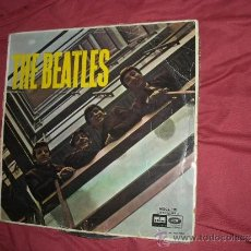 Discos de vinilo: THE BEATLES LP MOCL 120 1964 EMI ODEON GALLETA CELESTE SPA. Lote 32147420