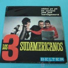 Discos de vinilo: LOS 3 SUDAMERICANOS. BELTER. Lote 32183742
