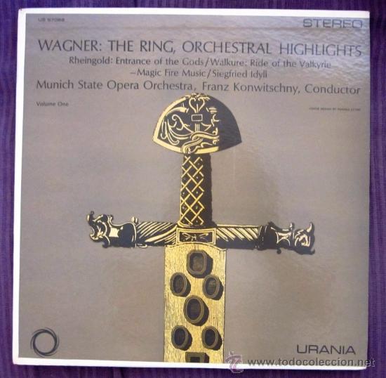 WAGNER - THE RING - KONWITSCHNY - MUNICH STATE OPERA ORCHESTRA - EDITADO EN USA - COMO NUEVO (Música - Discos - LP Vinilo - Clásica, Ópera, Zarzuela y Marchas)