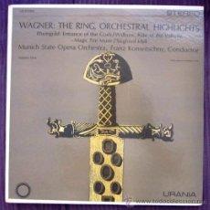 Discos de vinilo: WAGNER - THE RING - KONWITSCHNY - MUNICH STATE OPERA ORCHESTRA - EDITADO EN USA - COMO NUEVO. Lote 32164437