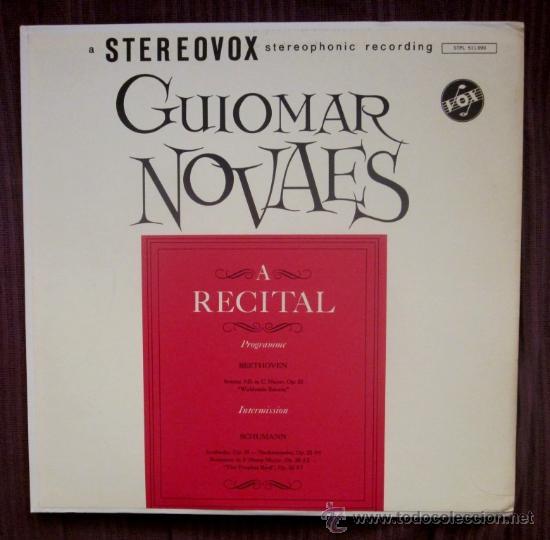 GUIOMAR NOVAES - BEETHOVEN, SCHUMANN - EDITADO EN USA - EXCELENTE ESTADO (Música - Discos - LP Vinilo - Clásica, Ópera, Zarzuela y Marchas)