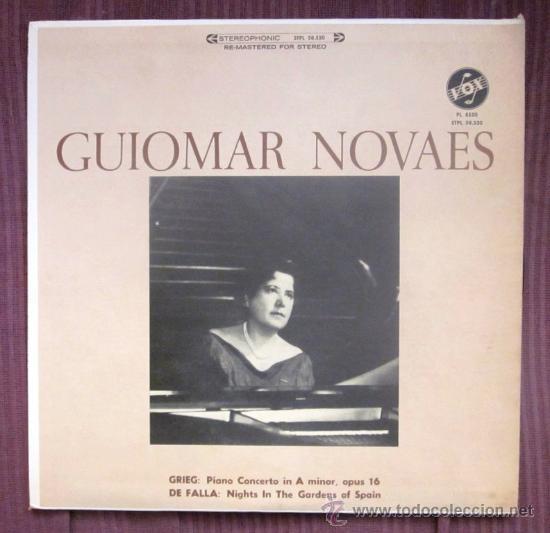 GUIOMAR NOVAES - GRIEG, FALLA (NOCHE EN LOS JARDINES DE ESPAÑA) - EDITADO EN USA - EXCELENTE ESTADO (Música - Discos - LP Vinilo - Clásica, Ópera, Zarzuela y Marchas)