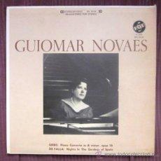 Discos de vinilo: GUIOMAR NOVAES - GRIEG, FALLA (NOCHE EN LOS JARDINES DE ESPAÑA) - EDITADO EN USA - EXCELENTE ESTADO. Lote 32172138