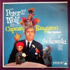 Discos de vinilo: STOKOWSKI - PETER AND THE WOLF, PEDRO Y EL LOBO / CAPTAIN KANGAROO - ED. EN USA - EXCELENTE ESTADO. Lote 32175194