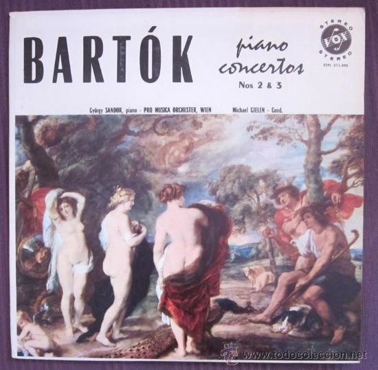BELA BARTÓK - PIANO CONCERTOS 2 Y 3 - GYÖRGY SÁNDOR - EDITADO EN USA - 1959 (Música - Discos - LP Vinilo - Clásica, Ópera, Zarzuela y Marchas)