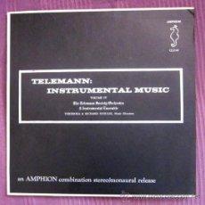 Discos de vinilo: TELEMANN - INSTRUMENTAL MUSIC - THE TELEMANN SOCIETY ORCHESTRA - EDITADO EN USA. Lote 32179946