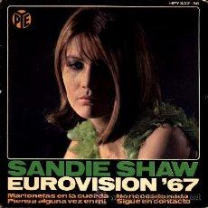 Discos de vinilo: SANDIE SHAW ··· MARIONETAS EN LA CUERDA (+ 3) - (EP 45 RPM). Lote 32185370