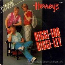 Discos de vinilo: HERREY'S ··· DIGGI LOO, DIGGI LEY / EVERY SONG YOU SING - (SINGLE 45 RPM). Lote 32187295