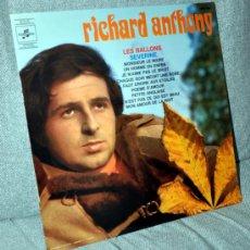 """Discos de vinilo: RICHARD ANTHONY - LP 12"""" - EDITADO EN FRANCIA - 11 TRACKS: POEMA DE AMOR (SERRAT VERSIÓN) + 10. Lote 32199049"""