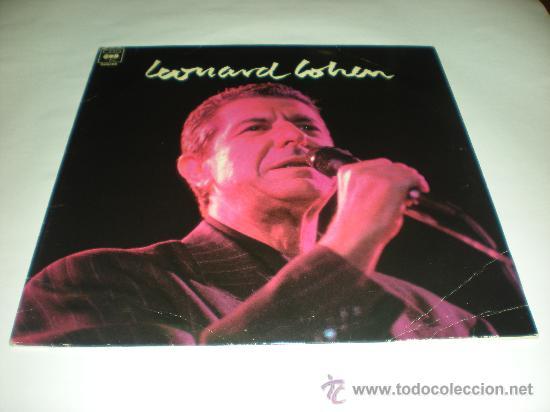 LEONARD COHEN_VINILO LP PROMOCIONAL CBS EDICION ESPAÑOLA_1989 (Música - Discos - Singles Vinilo - Cantautores Extranjeros)