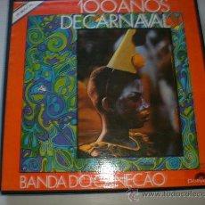 Discos de vinilo: BANDA DO CANECAO, 100 AÑOS DE CARNAVAL, CAJA 3 LPS. POLYDOR 1973, CON LIBRETOS DOCUMENTAL, VER FOTOS. Lote 32217985