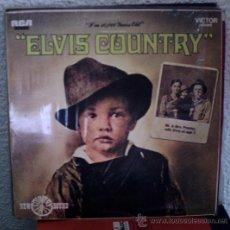 Discos de vinilo: ELVIS PRESLEY - ELVIS COUNTRY (I'M 10,000 YEARS OLD) - LP RCA – NL 83956 - ESPAÑA 1987. Lote 32219469