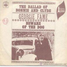 Discos de vinilo: GEORGIE FAME,THE BALLAD OF BONNIE AND CLYDE DEL 68. Lote 32222487