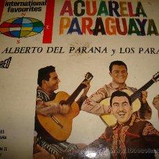 Discos de vinilo: ACUARELA PARAGUAYA, LUIS ALBERTO DEL PARANA Y LOS PARAGUAYOS, PHILIPS. Lote 32223430