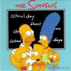 Discos de vinilo: THE SIMPSONS ··· SCHOOL DAY / SIBLING RIVALRY - (SINGLE 45 RPM) - NUEVO. Lote 32228018