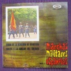 Discos de vinilo: BANDA DE LA ACADEMIA GENERAL MILITAR - RETRETA ESPAÑOLA, LLAMADA Y TROPA, FAGINA - 1961. Lote 32228760