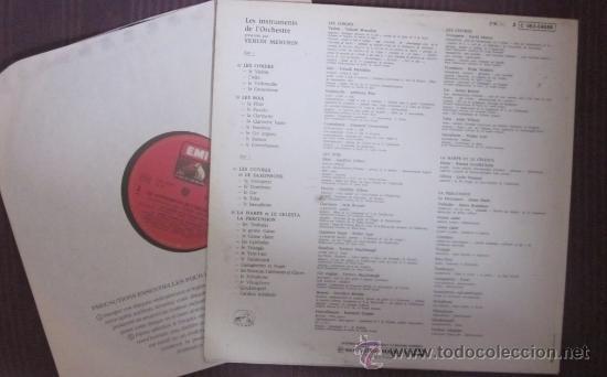 Discos de vinilo: LES INSTRUMENTS DE LORCHESTRE PRÉSENTÉS PER YEHUDI MENUHIN - 1961 - ED. FRANCESA, Excelente estado - Foto 2 - 42442428