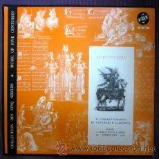 Discos de vinilo: MONTEVERDI - IL COMBATTIMENTO DI TANCREDI E CLORINDA - VOX (USA) - EXCELENTE ESTADO. Lote 32231888