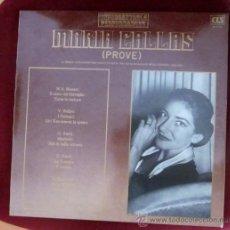 Discos de vinilo: MARIA CALLAS - PROVE - MOZART, BELLINI, VERDI, DONIZETTI - EDICIÓN ITALIANA - EXCELENTE ESTADO . Lote 32236072