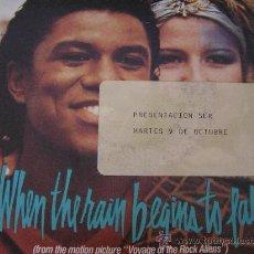 Discos de vinilo: JERMAINE JACKSON PIA ZADORA SINGLE VINILO WHEN THE RAIN BEGINS TO FALL . Lote 32236442