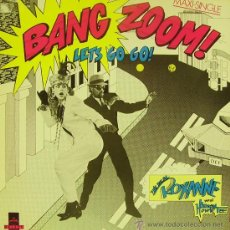 Discos de vinilo: THE REAL ROXANNE WITH HITMAN HOWIE TEE-BANG ZOOM LETS GO GO MAXI SINGLE VINILO 1986 PROMOCIONAL. Lote 32237876