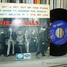 Discos de vinilo: THE ANIMALS EP WE GOTTA GET OUT OF THIS PLACE + 3 UK R&B BURDON SPAIN. Lote 32238485