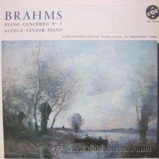 Discos de vinilo: BRAHMS - PIANO CONCERTO Nº 2 - GYÖRGY SÁNDOR - EDITADO EN USA - EXCELENTE ESTADO. Lote 32257793
