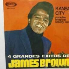 Discos de vinilo: JAMES BROWN 4 GRANDES EXITOS KANSAS CITY + 3. EP ESPAÑOL. IMPECABLE.. Lote 32414980