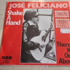 Discos de vinilo: 'SAN REMO '71' JOSE FELICIANO ( SHAKE A HAND - THERE'S NO ONE ABOUT ) GERMANY SINGLE45 RCA. Lote 32266837