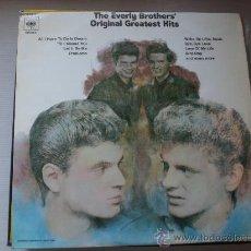 Discos de vinilo: EVERLY BROTHERS, ORIGINAL GHREATESTS HITS, 2 LPS.EDIT CBS SPAIN 1970, EXCELENTE ESTADO VER FOTO. Lote 32276805