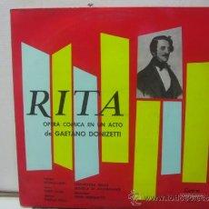 Discos de vinilo: GAETANO DONIZETTI - RITA - EDICION ESPAÑOLA - VERGARA 1966. Lote 32277531