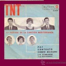Discos de vinilo: LOS TNT DISCO EP FESTIVAL DE LA CANCION MEDITERRANEA. Lote 9597488