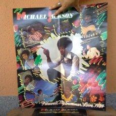 Discos de vinilo: DISCO Y POSTERS DE MICHAEL JACKSON. Lote 32288051