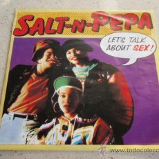 Discos de vinilo: SALT 'N' PEPA ( LET'S TALK ABOUT SEX 2 VERSIONES ) 1991 - GERMANY SINGLE45 FFRR. Lote 32288060