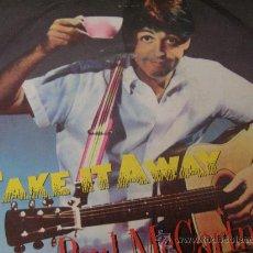 Discos de vinilo: BEATLES PAUL MCCARTNEY 45 SINGLE VINILO TAKE IT AWAY. Lote 32291850