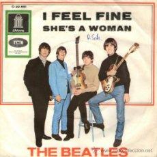 Discos de vinilo: THE BEATLES - SINGLE VINILO 7'' - I FEEL FINE + SHE'S A WOMAN - EDITADO EN ALEMANIA. Lote 32291855