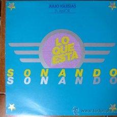 Discos de vinilo: LP JULIO IGLESIAS . EL AMOR. COLUMBIA.LO QUE ESTA SONANDO.. Lote 32292328